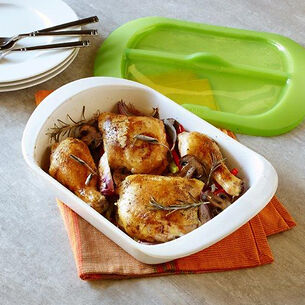 Baked Chicken with Potatoes and Mushrooms