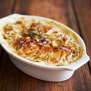 Potato and Celery Root Gratin