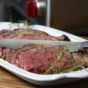 Standing Rib Roast with Roasted Garlic and Red Wine