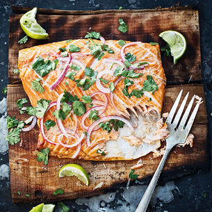 Wood Plank-Grilled Salmon