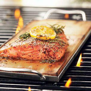 Cedar-Plank Salmon with Lemon-Dill Hollandaise