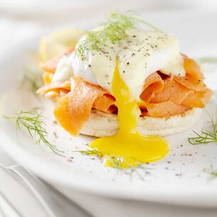 Smoked Salmon Eggs Benedict with Hollandaise