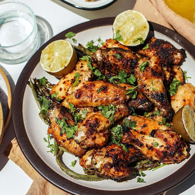 Cumin Chili Grilled Chicken Wings