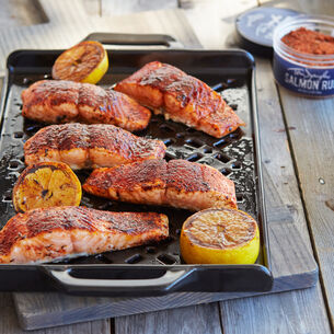 Grilled Rub with Love Salmon