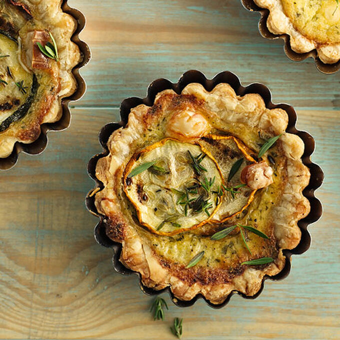 Caramelized Onion and Brie Tartlets