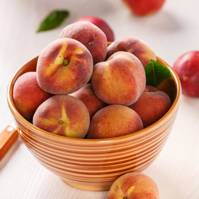 Cedar-Plank Honey-Bourbon Nectarines