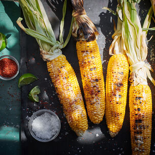 Grilled Corn with Chipotle Butter and Cilantro