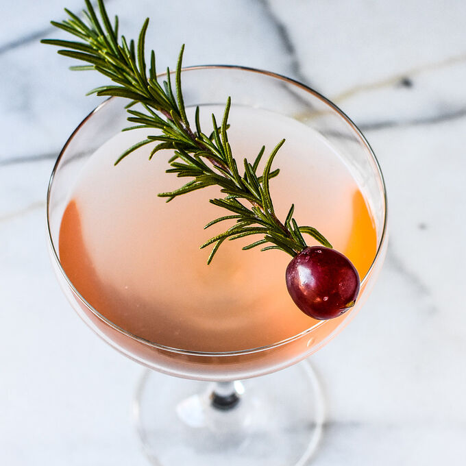Gin and Grape Rosemary Rosé