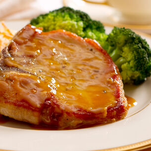 Brined, Smoked and Grilled Pork Chops with Peach-Bourbon Barbeque Sauce