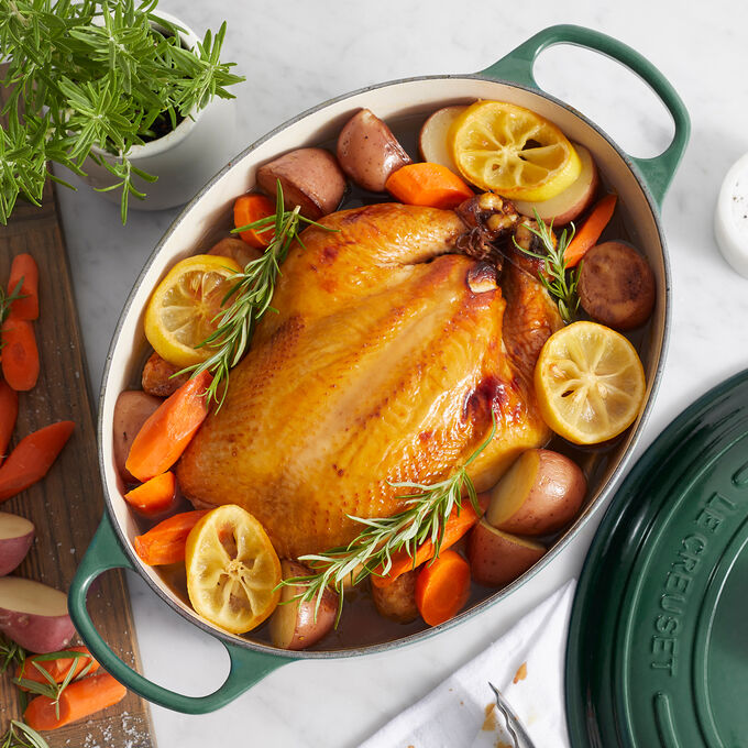 Braised Whole Chicken with Potatoes and Carrots