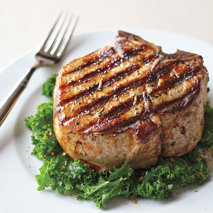 Spice-Crusted Pork Chops with Orange-Chipotle Glaze