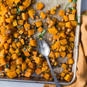 Cumin Roasted Butternut Squash with Chickpeas