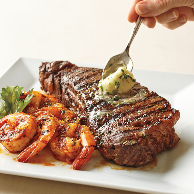 Steam-Grilled Surf and Turf