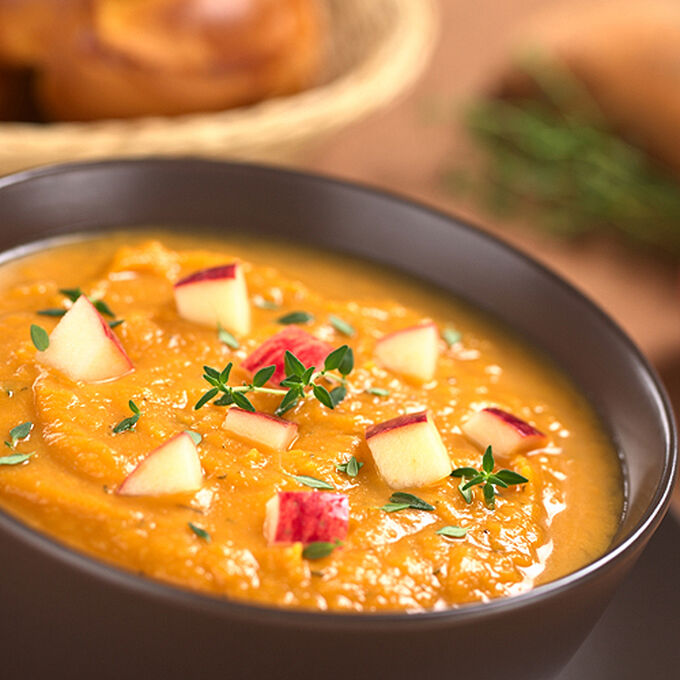 Sweet Potato, Apple and Ginger Soup