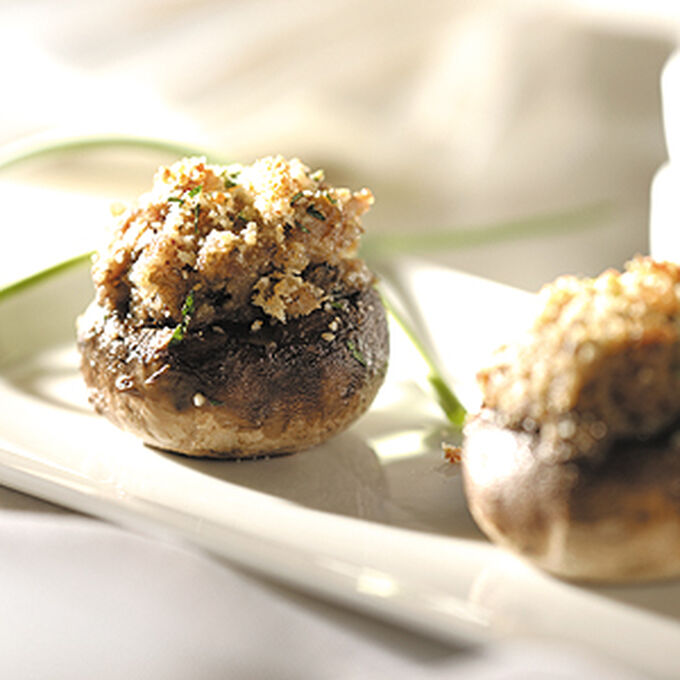 Mushrooms Stuffed with Sweet Italian Sausage