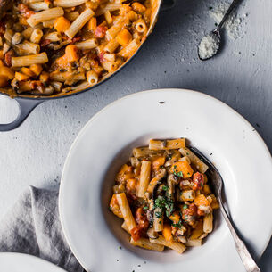 Rigatoni with Butternut Squash Ragu