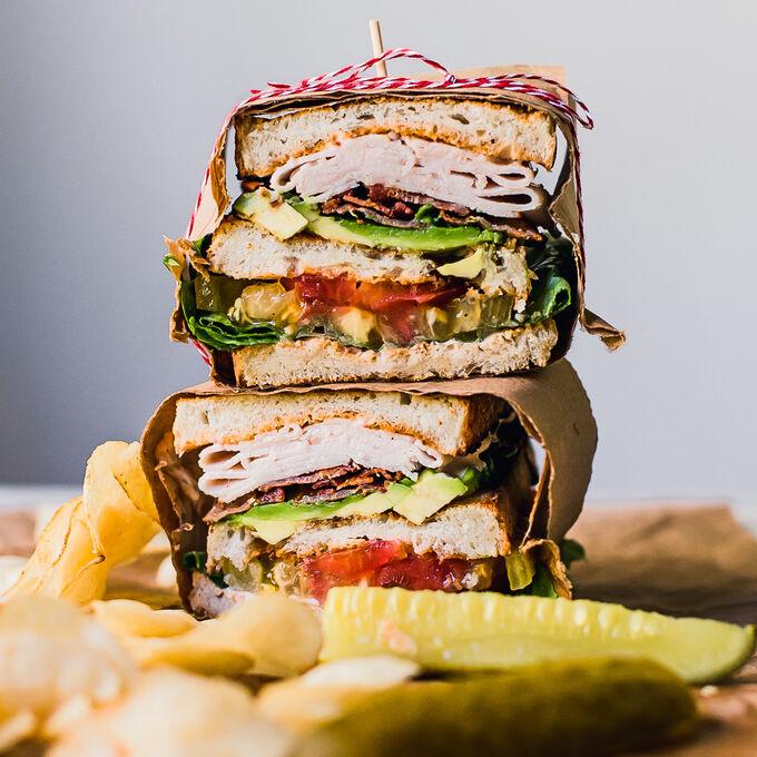 Ultimate Avocado BLT Club Sandwich
