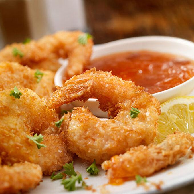 Popcorn Shrimp with Bloody Mary Aioli