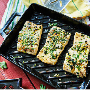 Grilled Fish with Mint Gremolata