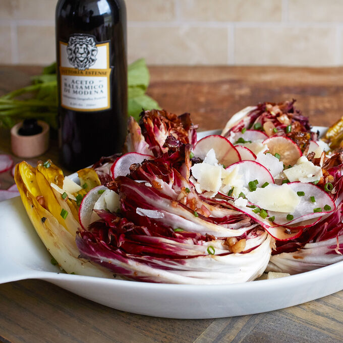 Grilled Radicchio and Endive Salad with Spring Radishes