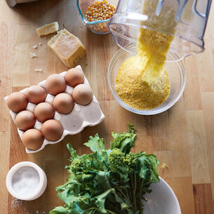 Polenta with Broccoli Rabe and Fried Eggs