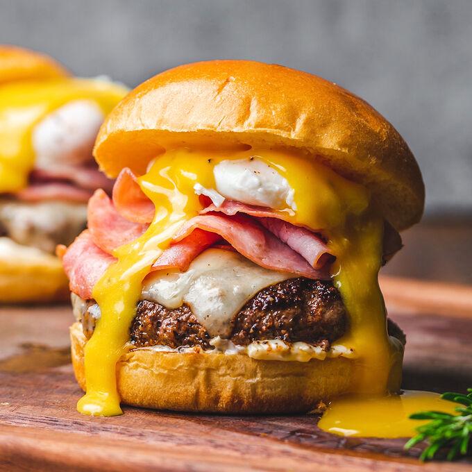 Eggs Benny Burger