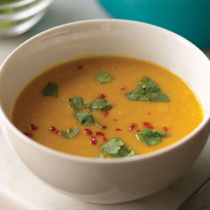 Kabocha Squash Soup with Toasted Cumin and Chiles