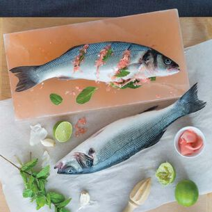 Salt-Crisped Whole Fish with Mint and Pickled Ginger