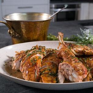 Spatched Turkey with Turkey Scrap Gravy