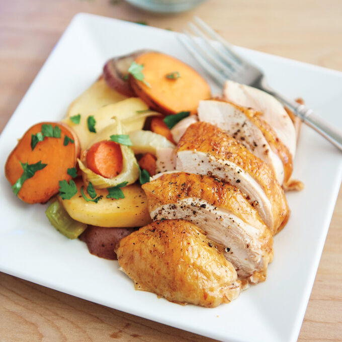 Fresh Herb Chicken with Root Vegetables