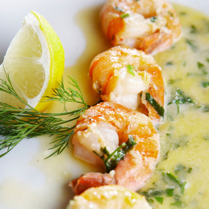 Grilled Shrimp with Tarragon Beurre Blanc