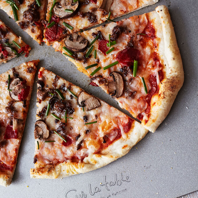Sausage, Mushroom and Sweet Pepper Pizza