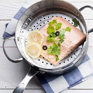 Healthy Steamed Salmon
