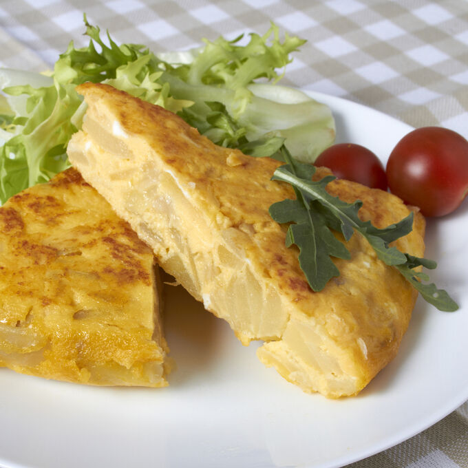 Spanish Tortilla with Smoked Paprika Aioli and Fried Sage