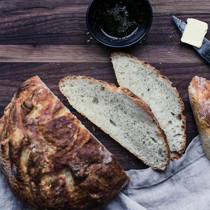 King Arthur Flour's No-Knead Crusty White Bread