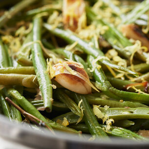 Sautéed Green Beans with Lemon-Thyme Dressing