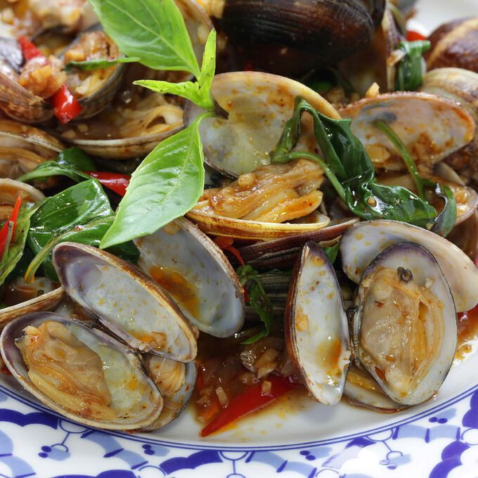 Stir-Fried Clams with ThaiFusions Sweet Onion Chili Jam