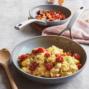 Scrambled Eggs with Blistered Tomatoes