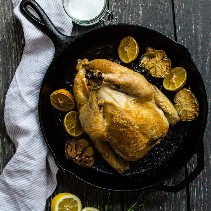 Garlic Lemon Rosemary Roasted Chicken