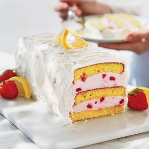 Strawberry-Lemon Ice Cream Layer Cake