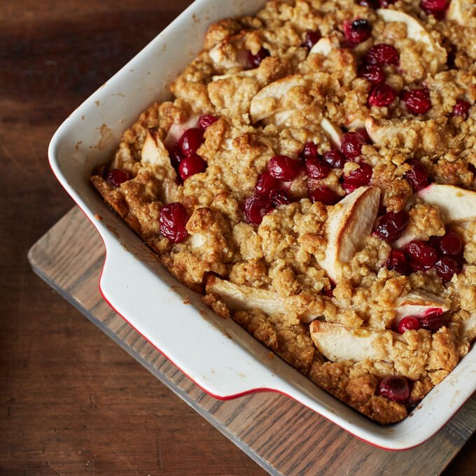 Apple-Cranberry Crisp with Oatmeal Topping