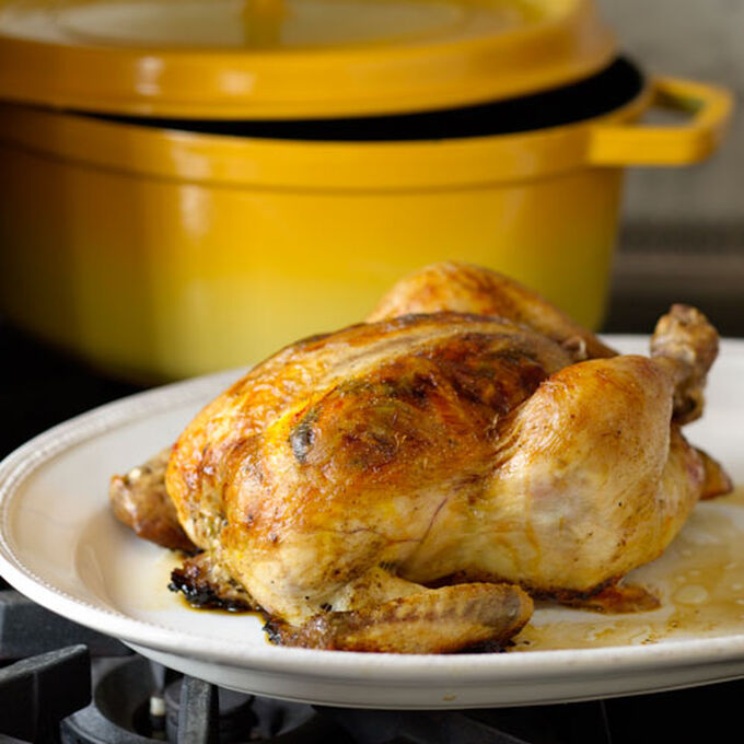 Roasted Chicken with Mustard-Thyme Sauce