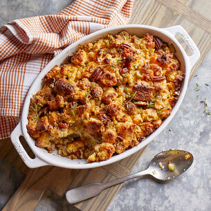 Cornbread and Sausage Dressing with Pecans
