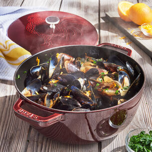 Steamed Mussels with Pinot Grigio, Garlic and Herbs