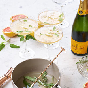 Grapefruit and Sage Champagne Cocktail