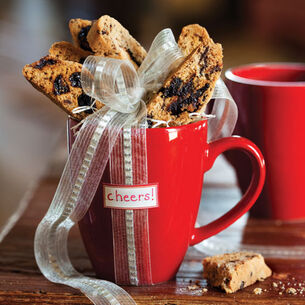 Cappuccino Biscotti with Hazelnuts and Chocolate