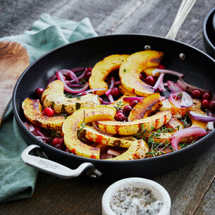 Roasted Winter Squash with Red Onions and Cranberries