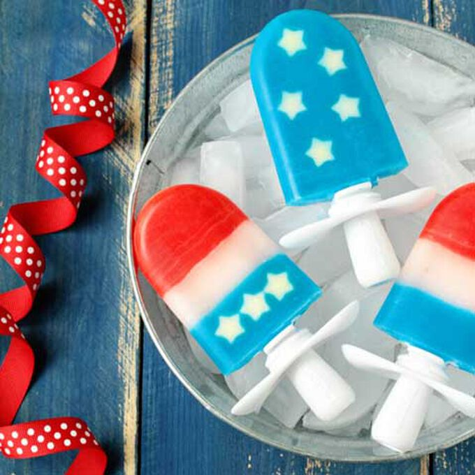 Red, White, & Blue Quick Pops