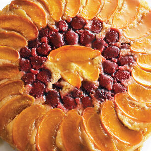 Apricot-Raspberry Upside-Down Cake