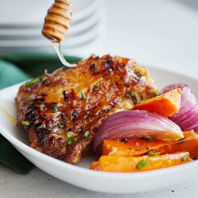 Balsamic Chicken with Sweet Potatoes